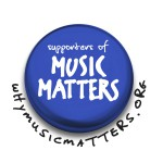 White Why Music Matters Irish Supporter Badge