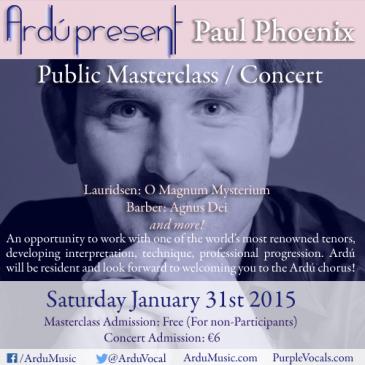 Masterclass & Concert with Paul Phoenix
